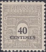 France 1945 Arc of the Triomphe - Allied Military Government b