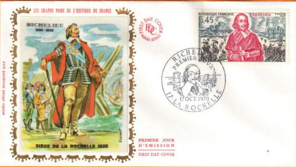 France 1970 History of France FDCd