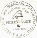 French Southern and Antarctic Territories 1989 Bicentenary of the French Revolution PMa