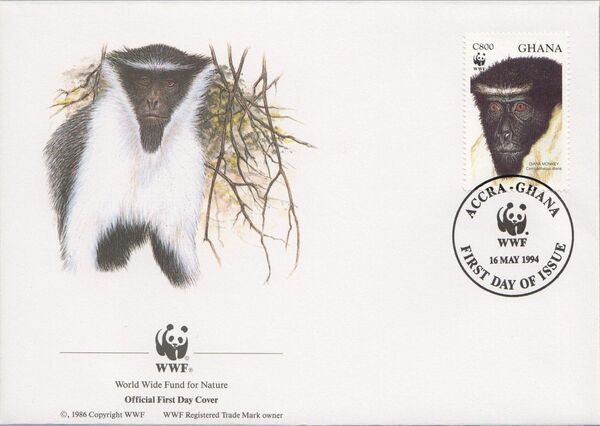 Ghana 1994 WWF - Diana Monkeys n