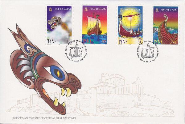 Isle of Man 1998 Viking Longships i
