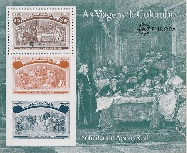 Portugal 1992 EUROPA - 5th Centenary of Discovery of America SSb