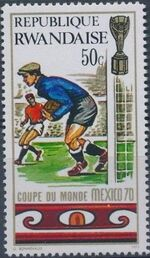 Rwanda 1970 Football World Cup - Mexico c
