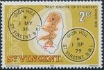 St Vincent 1979 Cancellations and Location of Village b