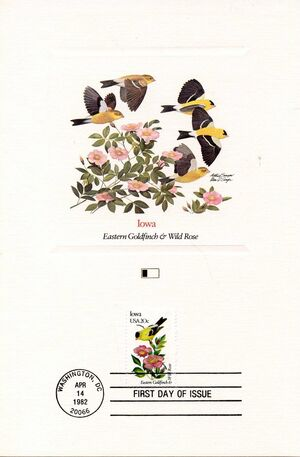 United States of America 1982 State birds and flowers FOLb6