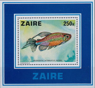 Zaire 1978 Fishes SSa
