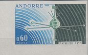 Andorra-French 1966 Launch of the French Satellite FR 1 b