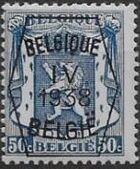Belgium 1938 Coat of Arms - Precancel (4th Group) f