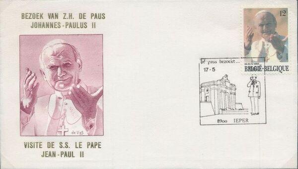 Belgium 1985 Visit of Pope John Paul II FDCo