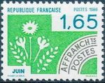 France 1986 Months of the Year - Pre-cancelled (2nd Issue) b