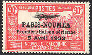 New Caledonia 1933 Definitives of 1928 Overprinted q