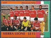 Sierra Leone 1990 Football World Cup in Italy h
