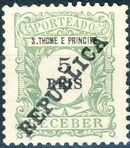 St Thomas and Prince 1913 Postage Due Stamps - 2nd Overprint a