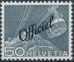 Switzerland 1950 Engineering - Switzerland Postage Stamps of 1949 Overprinted Officiel i
