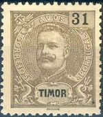 Timor 1903 D. Carlos I - New Values and Colors j