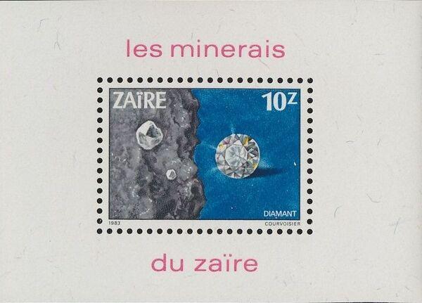 Zaire 1983 Minerals k