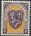 Algeria 1947 Coat of Arms (1st Group) f