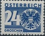 Austria 1935 Coat of Arms and Digit i