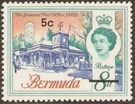Bermuda 1970 Definitive Issue of 1962 Surcharged e