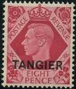 "British Offices in Tangier 1949 King George VI Overprinted ""TANGIER"" h"
