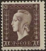 France 1945 Marianne de Dulac (2nd Issue) f