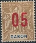 Gabon 1912 Navigation and Commerce Surcharged f