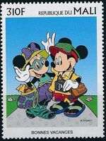 Mali 1997 Greetings Stamps - Walt Disney Characters g