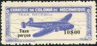 "Mozambique 1947 Airplane over Mountainous Region with ""Taxe Perçue"" f"