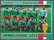 Sierra Leone 1990 Football World Cup in Italy d