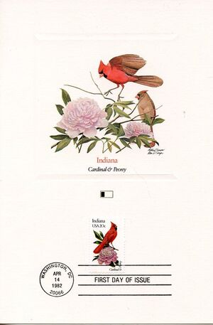 United States of America 1982 State birds and flowers FOLb5