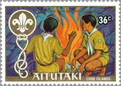 Aitutaki 1983 75th Anniversary of Scouting a