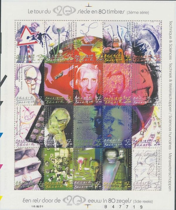 Belgium 2001 The 20th Century III - Science and Technology Sa