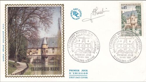 France 1969 42nd Congress of the Federation Philatelic Societies FDCa