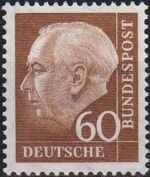 Germany, Federal Republic 1957 Pres. Theodor Heuss d