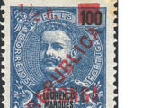 Kionga 1916 D Carlos I from Lourenço Marques with Overprint and Surcharged