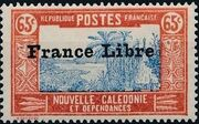 "New Caledonia 1941 Definitives of 1928 Overprinted in black ""France Libre"" q"