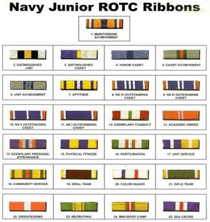 Navy JROTC ribbons