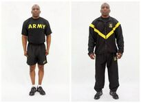 Black gold Army PT uniform