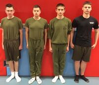 USMC JROTC PT uniform.