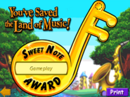 Sweetnote award