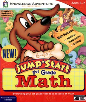 JumpStart 1st Grade Math Game Cover