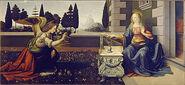 380px-Leonardo Da Vinci - Annunciazione