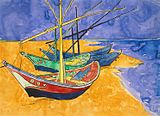 160px-Vincent van Gogh - Boats at Saintes-Marie watercolour