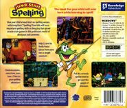 Jumpstart spelling back cover