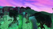 Flying in magic marsh