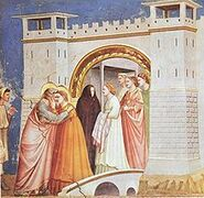 220px-Giotto - Scrovegni - -06- - Meeting at the Golden Gate