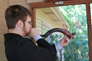 Blowing The Shofar on Rosh Hashanah