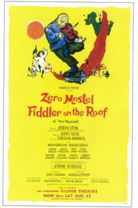 Poster For The Original Broadway Production Of Fiddler On The Roof.