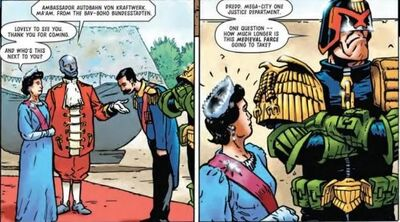 Dredd and the queen