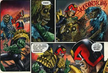 Dredd decapitates zombie